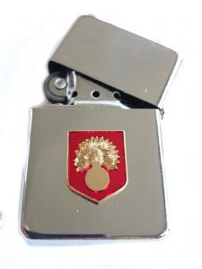 Grenadier Guards Chrome Plated Windproof Petrol Lighter in Gift Box v2